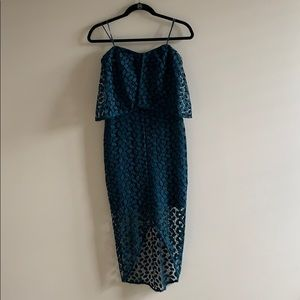 Blue midi lace dress from Nordstrom size 2